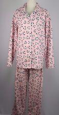 Joe Boxer Size L Pink Panda Flannel Pajama Top & Pants