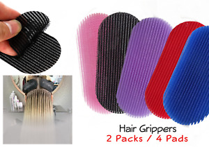 Hair Gripper Holder Fixed x 4 Fringe Sticker Makeup Barber Sectioning Clip Pads