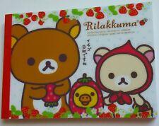 San-x Kawaii Rilakkuma Strawberries Friends Large Memo Pad stationery stickers