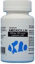 Fish Antibiotics 500 mg. 100 count Capsules USP Amox