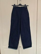 Freddies of Pinewood 1940s Button Jeans Vintage Style - Size 26 Regular