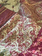 Pottery Barn Georgia Quilt Queen - Retired Htf Discontinued Print Euc