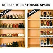 Organizadores del zapato Ranuras Pack fácil Zapatos Organizador de ahorro de espacio del sostenedor del estante