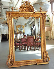 MILANO-COLLECTION Fine carved MIRROR ca.180x124cm PUTTO RAHMENSPIEGEL antik-gold