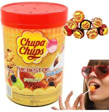 Chupa Chups 100 Best of Chupa Chup Lollipops Assorted Flavour BULK Lollies Jar
