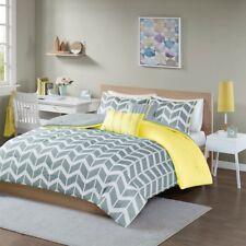 Full/Queen Nadia Comforter Set Micro Fiber Yellow Intelligent Design Id10-014