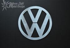 "Volkswagen Vw 8"" Brushed Steel Metal Logo - 3"