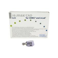 Vivadent Ivoclar IPS e.max CAD CEREC Blocks InLab 5/Pk All Sizes Shades