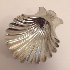 Good Quality Antique c1920's Silver Plate Scallop Shell Butter / Caviar Dish.