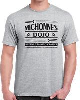 251 Michonnes Katana Training mens T-shirt zombie tv show undead vintage dead