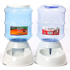 Cats Dogs Automatic Pet Feeder Drinking Water Fountains Large Capacity Plastic P