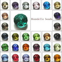 Wholesale Crystal Glass Rondelle Faceted Loose Spacer Beads 4mm 6mm 8mm