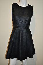ALICE + OLIVIA Employed size 2 black tweed sleeveless pleated dress