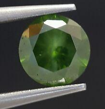 0.71 Carat Fancy Color Enhanced Green Diamond Loose Brilliant Cut Sparkling