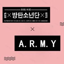 2pcs KPOP BTS Support Banner Bangtan Boys Suga Concert Streamer JIMIN JUNG KOOK