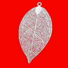 Blatt Glas Perle Blätter 11 mm blau 20 Stück 2586