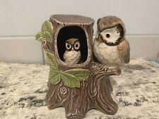 Vintage 1979 Otagiri Owl Music Box Plays Love Will Keep Us Together Owlet Moves