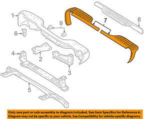 GM OEM Rear Bumper-Step Pad Protector Guard Sill Plate Left 15738017