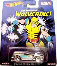 HOTWHEELS NEW MARVEL WOLVERINE DOUBLE DEMON DELIVERY  REAL RIDER RUBBER TYRES-