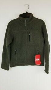 The North Face Youth Boys taupe green Gordon Lyons Full Zip Fleece Jacket L, XL