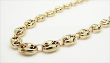 "New 10K Gold Yellow Puff Gucci Link Chain 26"" 8mm wide 29.3 Grams"