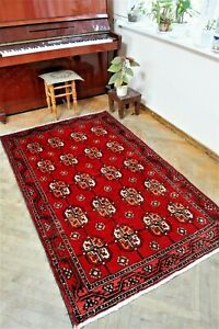 Baluchi rugs - Antique classic carpet size : 194 x 122 cm - 4 x 6.36 foot