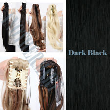 100% Thick Claw Clip In Straight Wavy Ponytail Hair Extensions as Human Thick AC