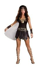Sexy Adult Gladiator Goddess Medieval Hero Costume Fancy Dress Cosplay C388