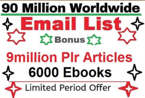 99 million email list with digital info books and plr article