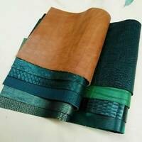 Thick Leather Pieces Premium Genuine Cowhide Scraps Upholstery DIY Craft 20x30cm