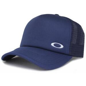 Oakley Flip Adjustable Trucker Cap Navy Mens Blue Snapback Baseball Casual Hat