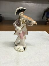 Vintage Porcelain Violin Player Figurine