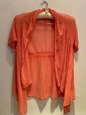 Anthropology Peach Sheer Cover Jacket Size Medium