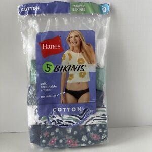 Hanes Bikinis Women's Underwear Cotton 5pk Size 9 XXL Tagless