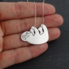 Sloth Necklace - 925 Sterling Silver - Sloths Pendant Jungle Slider Ice Age NEW