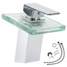 Robinet mitigeur de lavabo verre cascade évier salle de bain faucet laiton eau