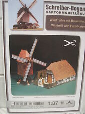 Windmühle mit Bauernhaus 1:87 Schreiber-Bogen Kartonbausatz *NEU* Bastelbogen