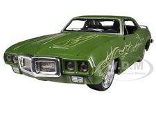 1969 PONTIAC FIREBIRD MATT GREEN CUSTOM 1/24 DIECAST MODEL CAR BY MAISTO 31040