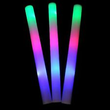 "24pk 16"" LED Foam Batons Light Up Rainbow Sticks Bulk Rave Baton Party Wand"