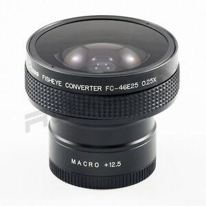 46mm 0.25X Super Wide Fisheye Lens for Canon Sony Nikon Panasonic w/ +12.5 macro