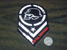 "METAL MULISHA Red Black 6"" Batallion Skull Sticker Window Decal Nitro Circus MX"