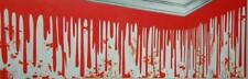 Dripping Blood Wall Border Halloween Party Decoration Splatter 25' Banner
