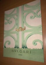 BVLGARI BULGARI JEWELLERS CATALOG! NECKLACE RING EARRINGS WATCHES PENS ETC.