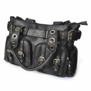 Poizen Industries Eve Bag Black Ladies Black Goth Emo Punk Girls