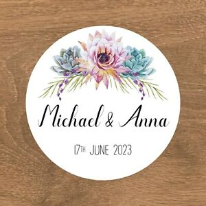 Personalised Wedding Stickers Favour Labels (A-002)
