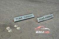 1968-69 Plymouth Roadrunner Door Emblems Pair / Set / (2) 27858277 MADE IN USA