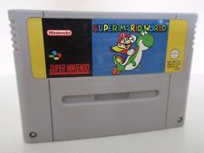 SUPER MARIO WORLD - SUPER NINTENDO - JEU SUPER NES SNES PAL FAH
