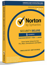 Norton Security Deluxe 3.0 - 2017 - 5 Geräte - 1 Jahr DE (PC/Mac/Tablet/Handy)