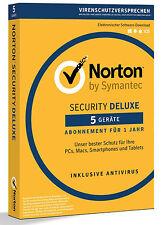Norton Security Deluxe 3.0 - 2017 - 5 dispositivos - 1 año de (PC/Mac/Tablet/teléfono móvil)