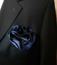 NEW - Men's 2-in-1 Pouf Pocket Square - Dark Blue
